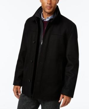 London Fog Men's Wool-Blend Layered Car Coat, Created for Macy's
