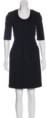 Burberry Virgin Wool Knee-Length Dress
