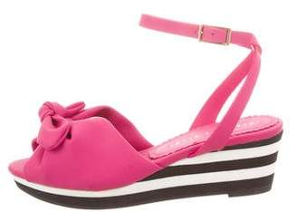 Charlotte Olympia Rubber Wedge Sandals