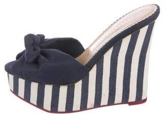 Charlotte Olympia Knotted Platform Wedges