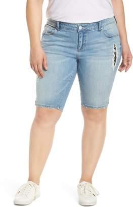 SLINK Jeans Ripped Denim Bermuda Shorts