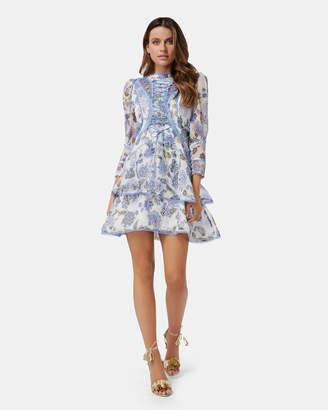 Thurley Bluebell Print Mini Dress