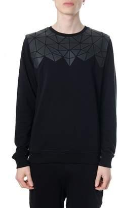 Frankie Morello Silvestre Prisms Embroidered Black Cotton Sweatshirt
