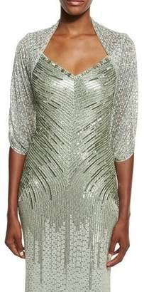 Jenny Packham Eve Sequined Tulle Bolero, Azure $1,925 thestylecure.com