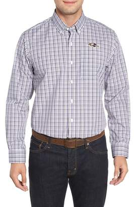 Cutter & Buck Baltimore Ravens - Gilman Regular Fit Plaid Sport Shirt