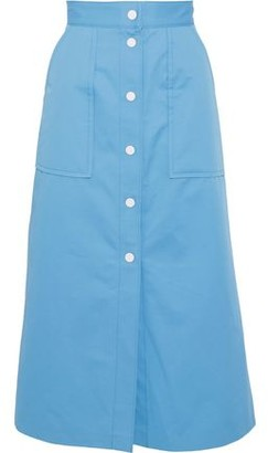 Sandro Plume Cotton-twill Midi Skirt