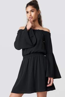 Na Kd Boho Wide Sleeve Off Shoulder Dress
