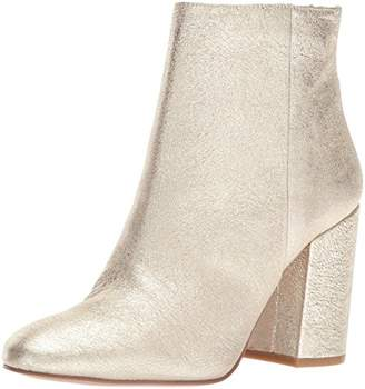 Kenneth Cole New York Women's Caylee Dress Block Heel Leather Ankle Bootie
