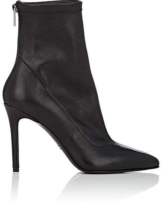 Barneys New York Women's Stretch Leather Ankle Boots