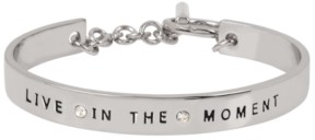 BCBGeneration 'Live In The Moment' Affirmation Toggle Bracelet