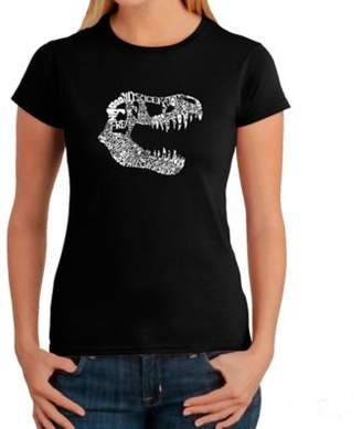 Women's Large Word Art T-Rex T-Shirt in Black $19.99 thestylecure.com
