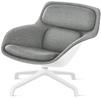 Design Within Reach Herman Miller Striad Lounge Chair, Low Back, Heathered Grey/white Shell at DWR