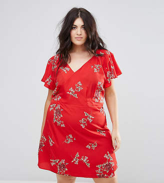 AX Paris Plus Floral Wrap Dress