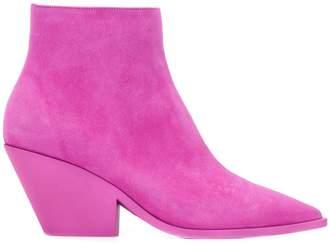 Casadei angled heel boots