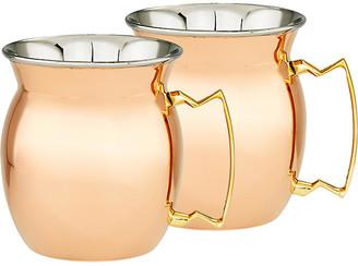 One Kings Lane Set of 2 Stockton Moscow Mule Mugs - Copper