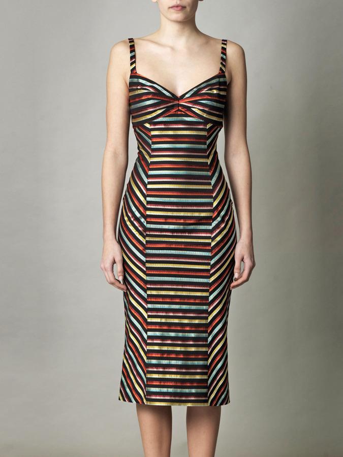 L'Wren Scott Multicolour stripe dress