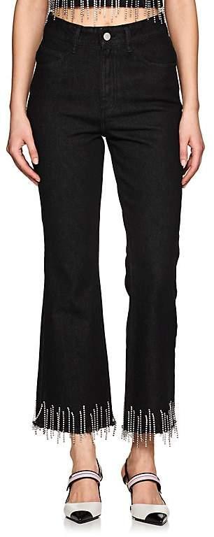 16ARLINGTON Women's Crystal-Embellished Flared Jeans