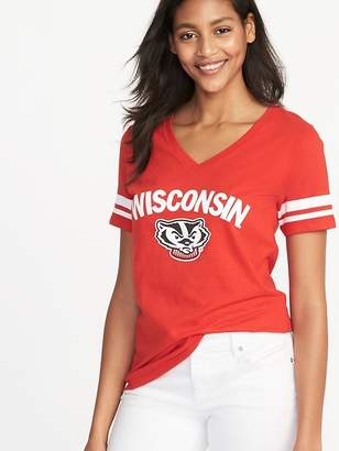 Old Navy College Team Sleeve-Stripe Tee for Women