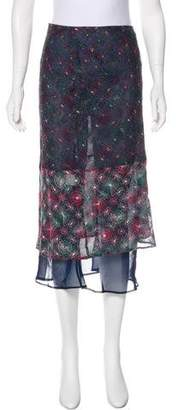 Clements Ribeiro Silk-Blend Midi Skirt