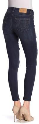 True Religion Henry Gold Sequin Curvy Skinny Jeans