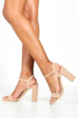 boohoo Block Heel Barely There Heels
