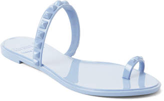Carmen Sol Baby Blue Studded Jelly Sandals