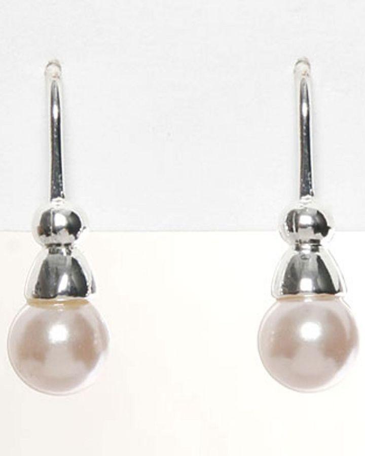 Carolee pink pearl drop earrings