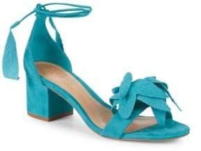 Schutz Ilkay Suede Ankle-Strap Sandals