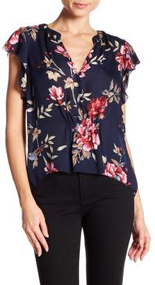 Joie Crisbell Silk Floral Hi-Lo Blouse