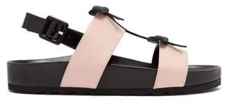 Fabrizio Viti - Berkley Bow Leather Slingback Sandals - Womens - Black Pink