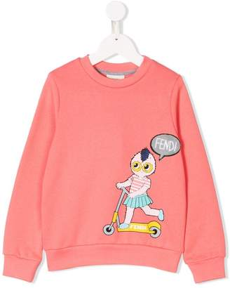 Fendi monster print sweatshirt