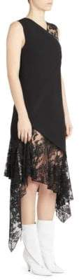 Givenchy Sleeveless Asymmetric Lace Dress