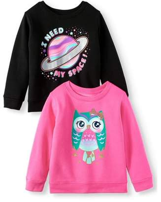 c11c3a009 at Walmart.com · Garanimals Graphic Sweatshirts, 2-pack (Toddler Girls)