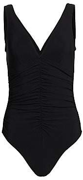 Karla Colletto Swim Women's One-Piece Ruched-Center Swimsuit