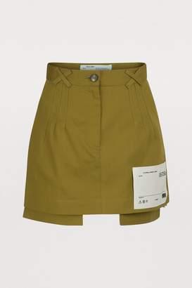 Off-White Off White Cotton mini skirt