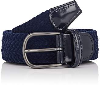 Barneys New York Men's Braided Velvet Belt
