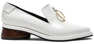Reike Nen Leather Ring Square Loafers