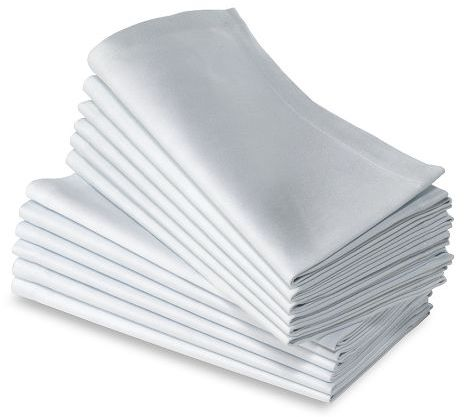 Hotel Dinner Napkins, White, Set of 12