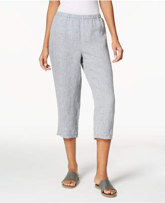 Eileen Fisher Organic Linen Cropped Pants