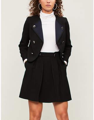 Claudie Pierlot Sonny A-line crepe skirt