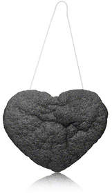 One Love Organics The Cleansing Sponge - Charcoal Heart Shape