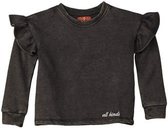 7 For All Mankind Seven Ruffle Sweatshirt