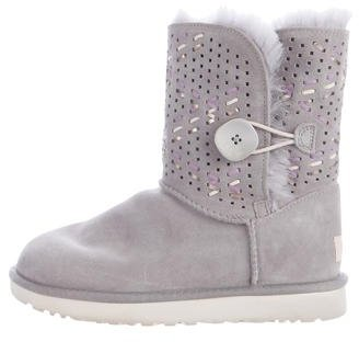 UGG UGG Australia Perforated Suede Ankle Boots