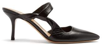 The Row Gala Twist Leather Mules - Womens - Black