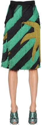 Marco De Vincenzo Fringed Crepe Skirt