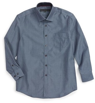 Boy's Report Collection Textured Dress Shirt $49.50 thestylecure.com