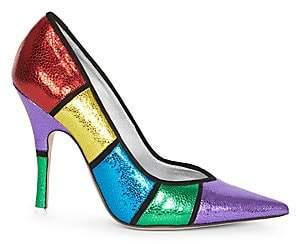 ATTICO Women's Colorblock Leather Stiletto Pumps