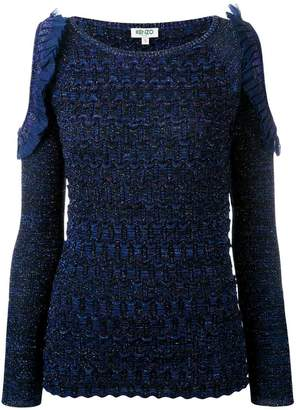 Kenzo cut-out sleeve knitted top