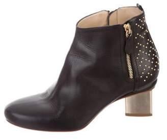 Nicholas Kirkwood Leather Round-Toe Ankle Boots Black Leather Round-Toe Ankle Boots