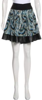 Yigal Azrouel Cut25 by Pleated Mini Skirt